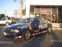Alex Roy and the Team Polizei BMW M5 at K1 Speed Torrance