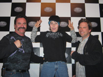 Gary Scelzi and Del Worsham visited K1 Speed
