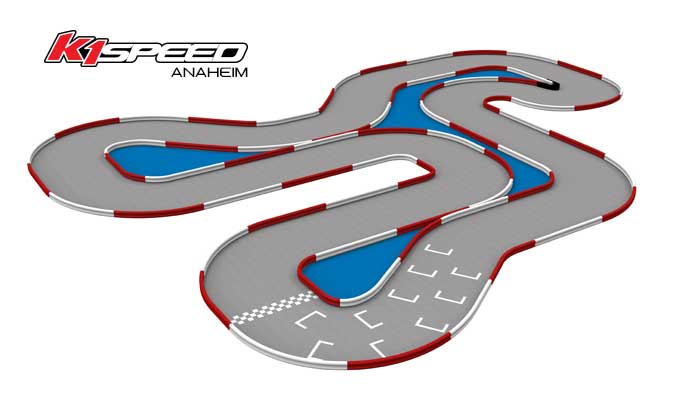 Fontana CalSpeed Karting Center Go Kart Track. The CalSpeed track features a world class turn, 3/4 mile purpose-built karting race circuit. From competitive karting and arrive and drive racing to karting schools and corporate entertainment, CalSpeed is one of the nation's premier full service karting center.