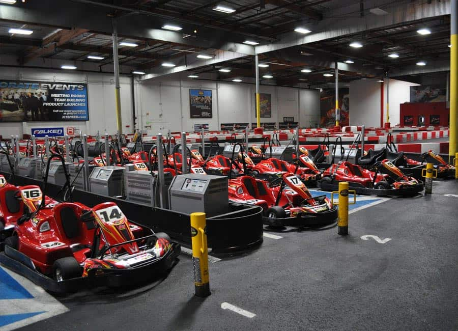 Have a ball riding the coasters at K1 Speed in Irvine. Load up the mini-van and bring the kids to this park? they'll love the scene here as much as mom and dad. Kart your way around K1 Speed and challenge your friends to a day at the track.K1 Speed's patrons can find places to park in the saiholtiorgot.tkon: Von Karman Avenue, Irvine, , CA.