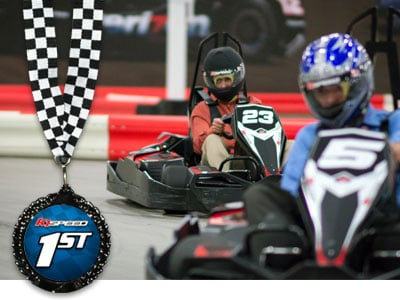 K1 Speed Racers With Medal