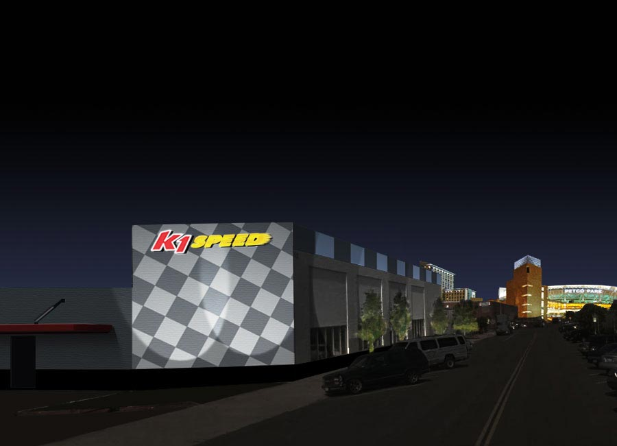 K1 Speed San Diego at Night