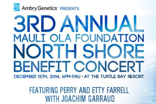 3rd Annual Mauli Ola Foundation Benefit Concert
