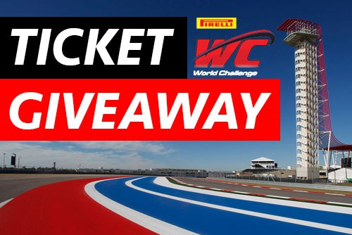 Pirelli World Challenge Ticket Giveaway