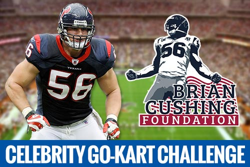 celebrity go kart challenge brian cushing foundation