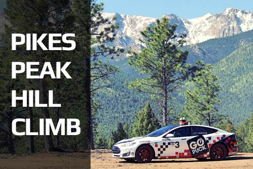 Go Puck Tesla Pikes Peak Car