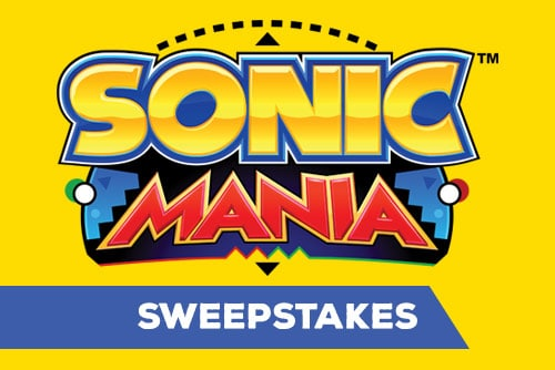 Sonic Mania™ 'Race to Win' Sweepstakes