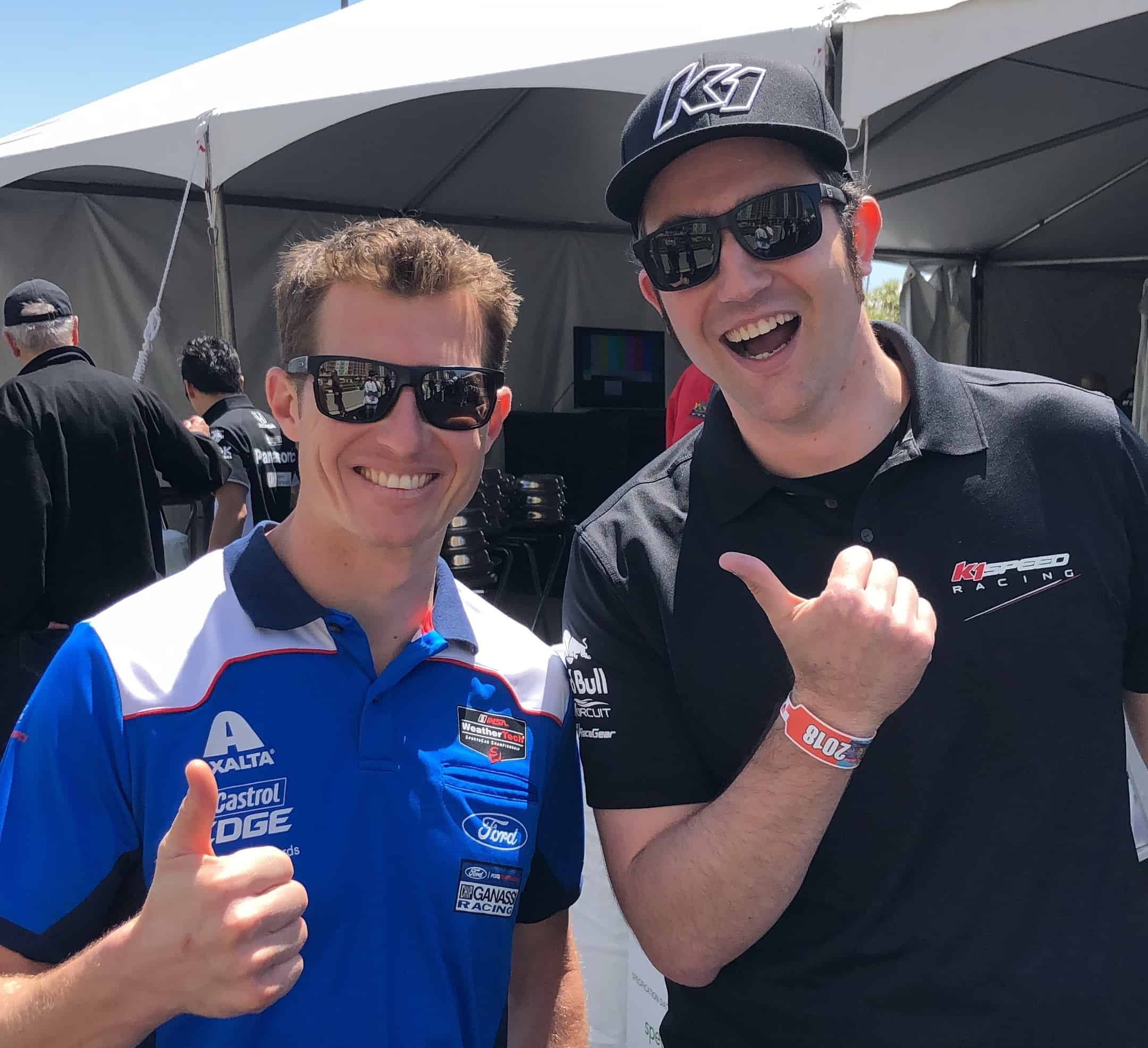 Ryan Briscoe and Ryan Jurnecka of K1 Speed at the Grand Prix of Long Beach