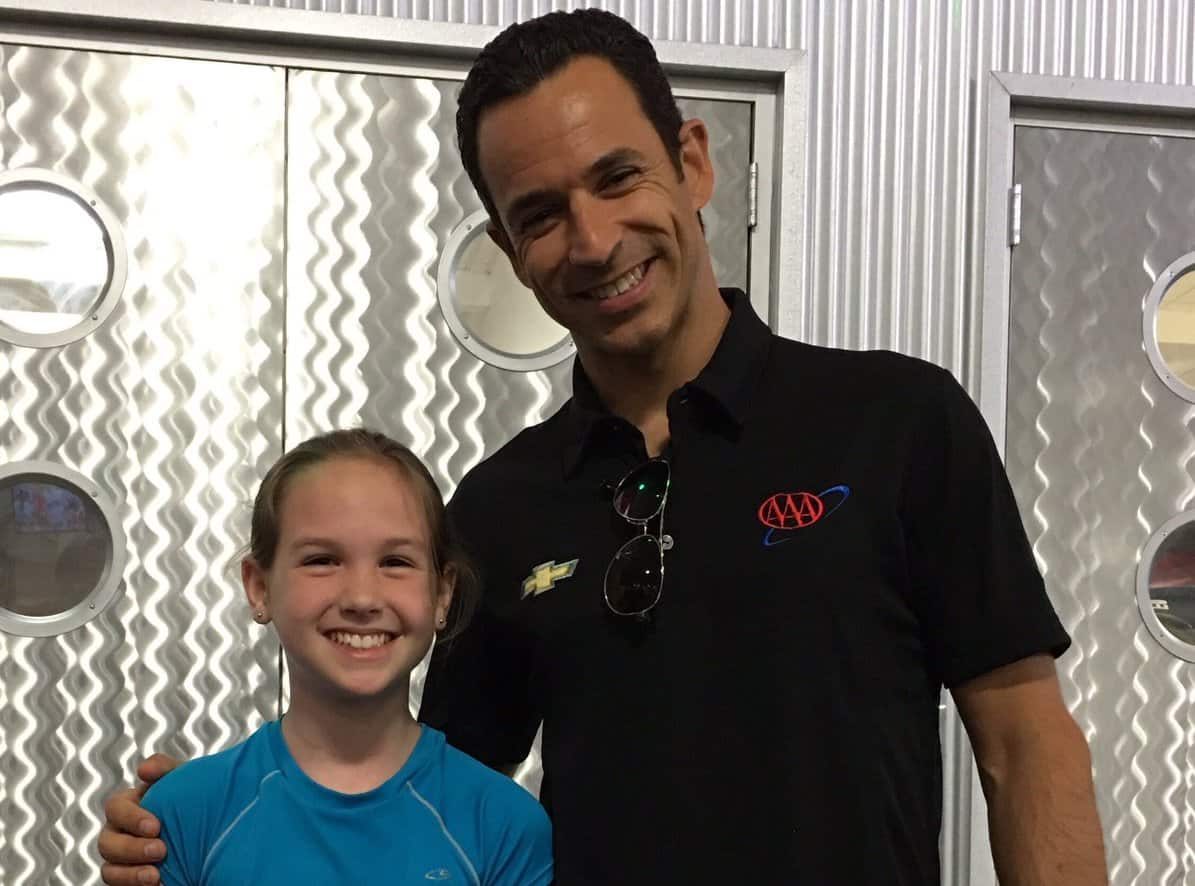 Ashlyn Speed and Helio Castroneves at K1 Speed Arlington