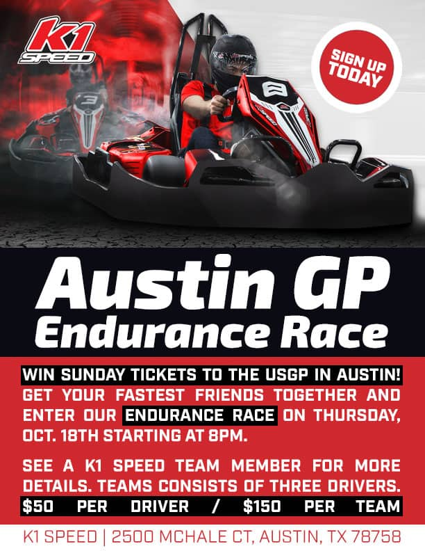 K1 Speed Race To Win United States Grand Prix Tickets In