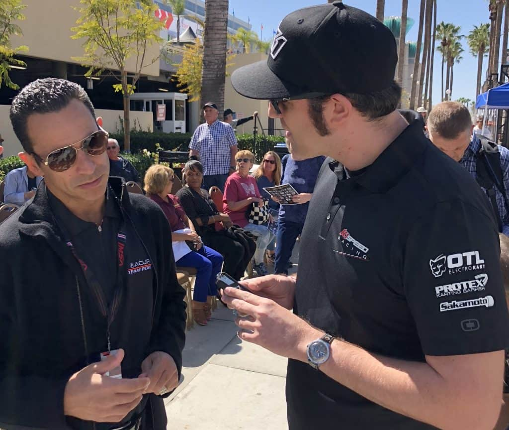 helio castroneves with ryan jurnecka of k1 speed