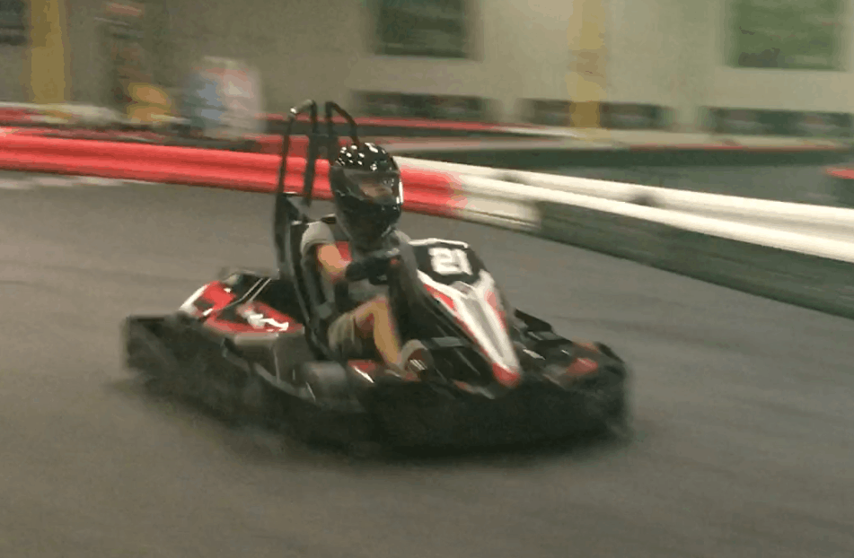 Picture of Christian racing on track 1 in Irvine