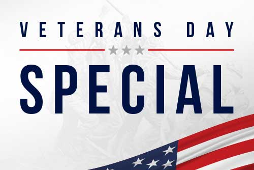 Veterans Day Special: BOGO for Active Military & Veterans