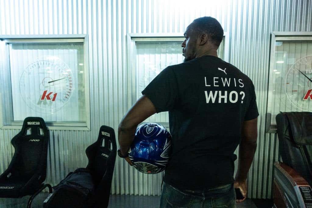 Usain Bolt King Of Go Kart Taunts Lewis Hamilton At K1