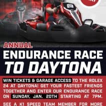 Enter our Race to Daytona Endurance Race!