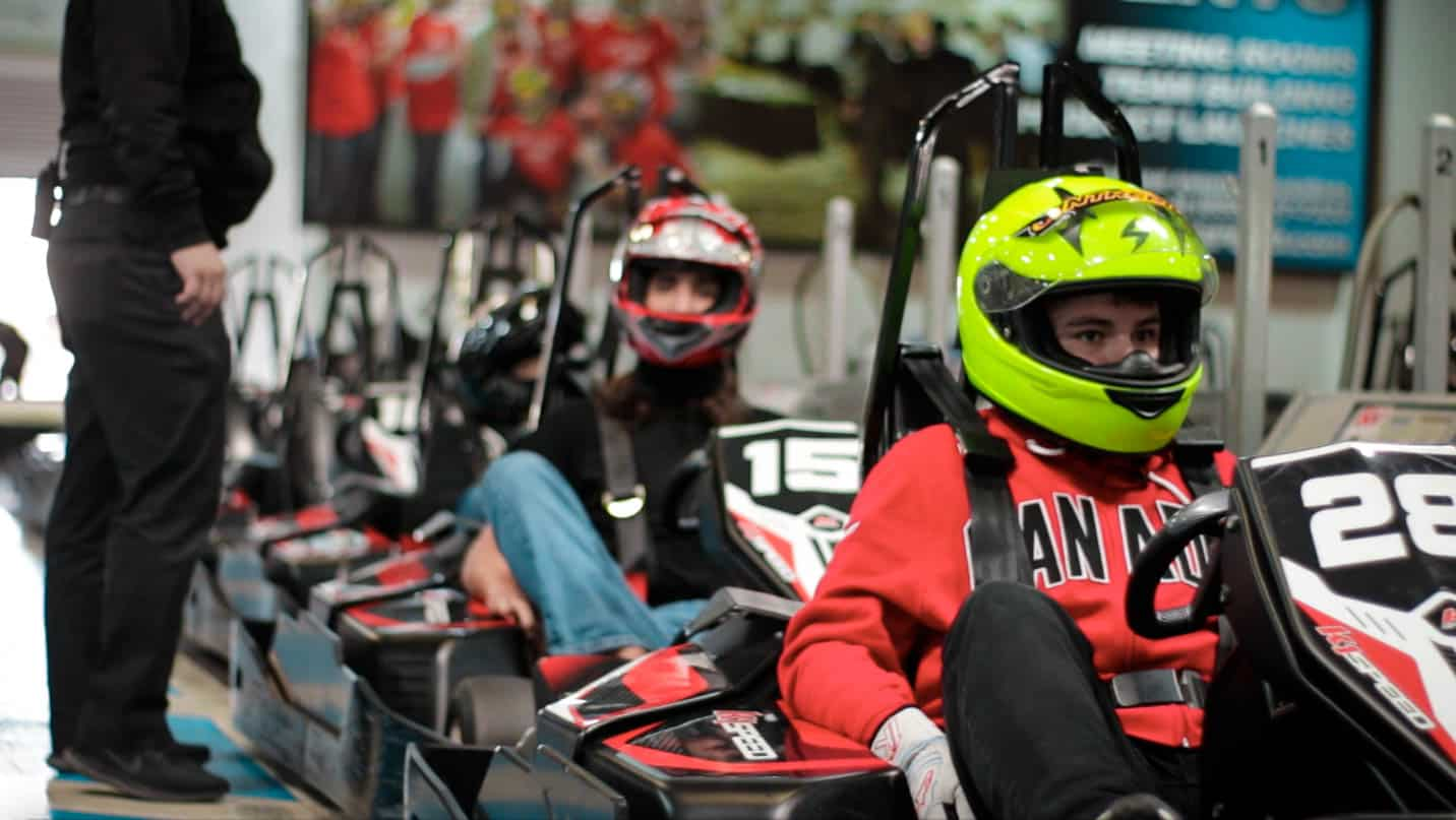 daniel demaras and antonio arias line up to out during the k1 speed world championship