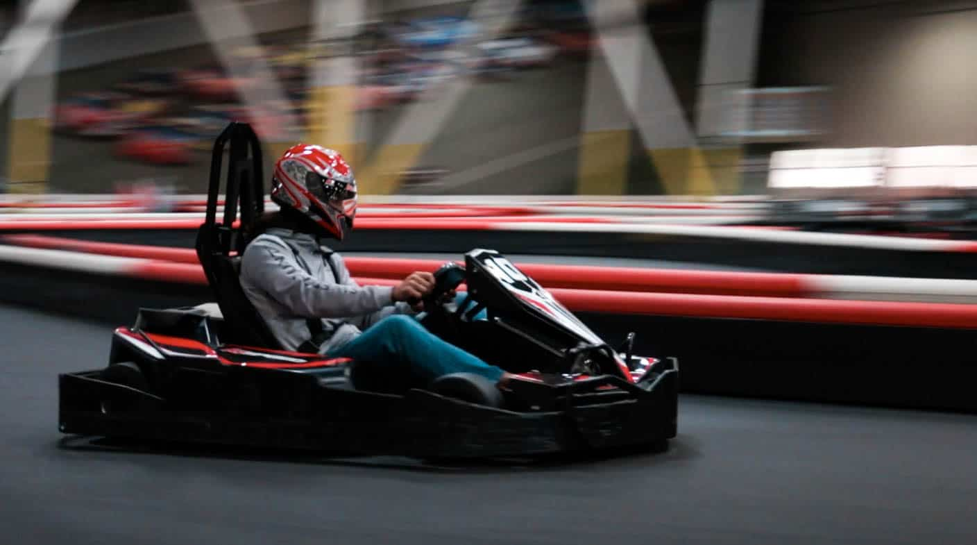 Antonio arias drives his kart during the k1 speed world championship