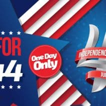 4th of July Special: 4 Races for $44 / Patriotic Headsocks!