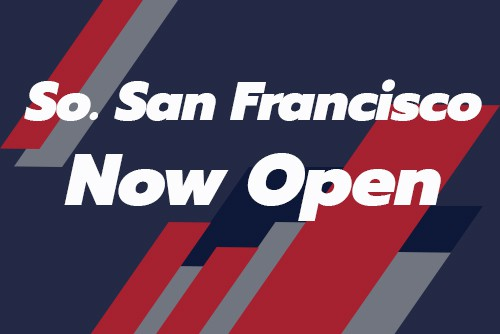 "graphic reading ""south san francisco now open"""