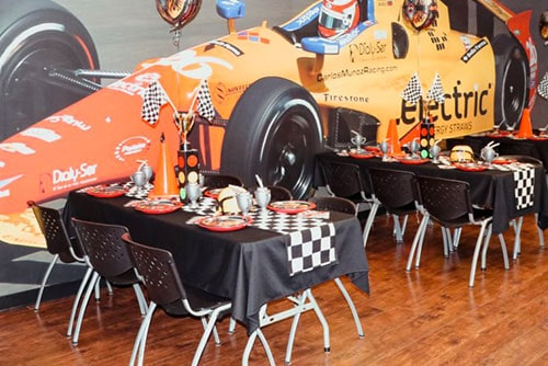 featured image for the race car themed birthday party