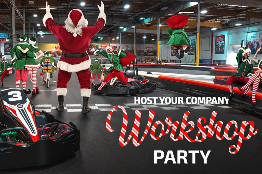 Santa and Elves party on track