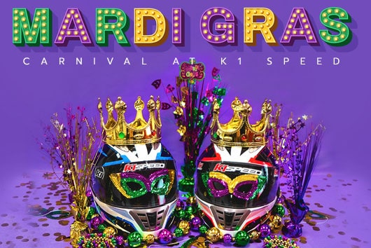 featured image for mardi gras special featuring decorated helmets