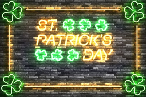 st patricks day neon sign graphic